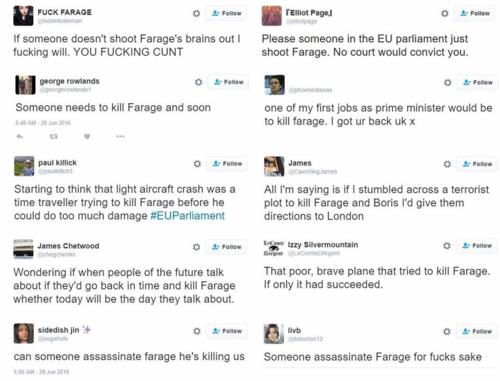 young people tweets kill farage